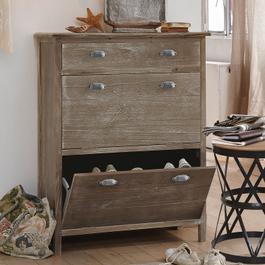 Schr nke und regale online kaufen im vintage style bei for Schuhschrank naturholz