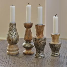 Kerzenständer 4er-Set Rubén