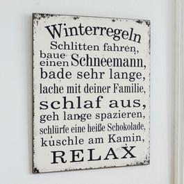 Dekoboard Winterregeln