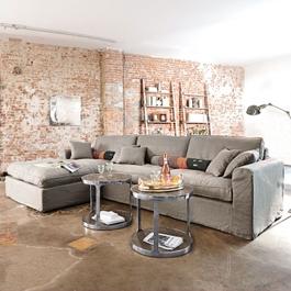 Sofa Seaford grau