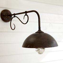 Außenwandlampe Lupia dunkelbraun