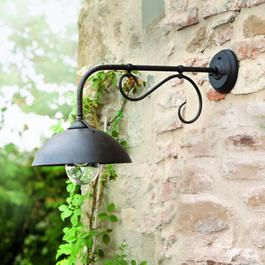 Außenwandlampe Lupia schwarz