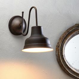 Wandlampe Sidney braun/weiß