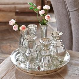 Tablett mit Vasen Blairville antiksilber