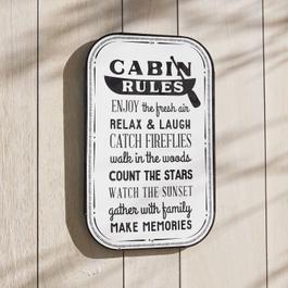 Deko-Schild Cabin