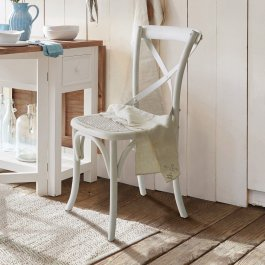 Stuhl Kary antikweiß