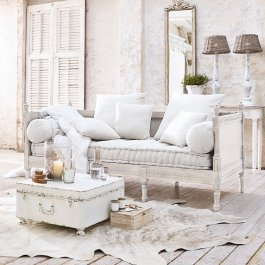 Sofa Douville antikweiß