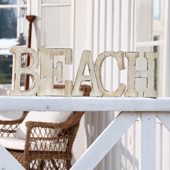 Deko-Buchstaben Beach