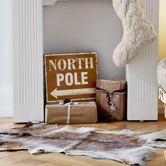 Deko-Schild North Pole