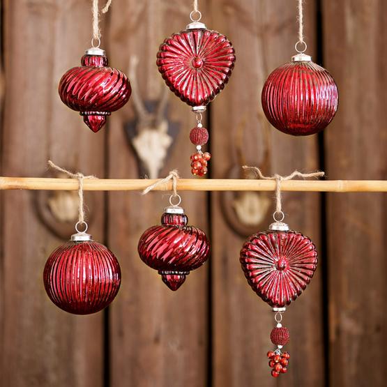 Weihnachtsschmuck 6er-Set Fuveau