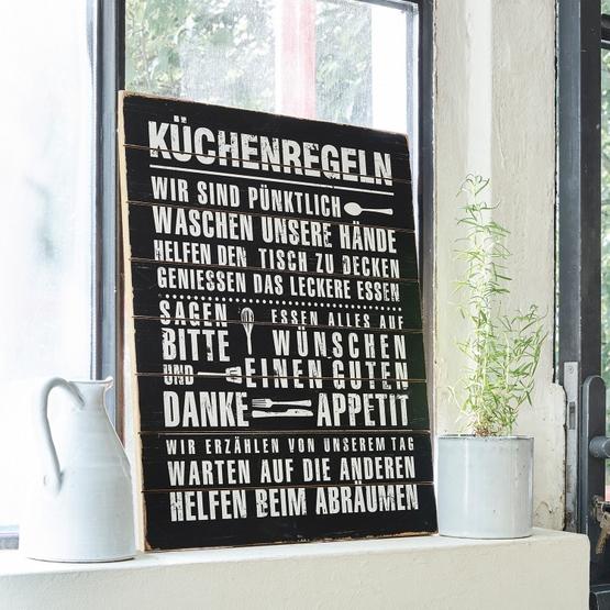 Dekoboard Küchenregeln