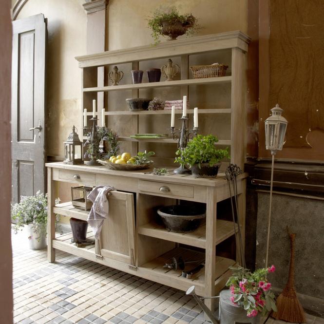 Gartenschrank Fallon | Garten > Gerätehäuser | Graubraun | Teakholz | LOBERON