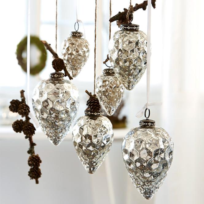 Weihnachten Antiksilber Glas Christbaumschmuck Online Kaufen