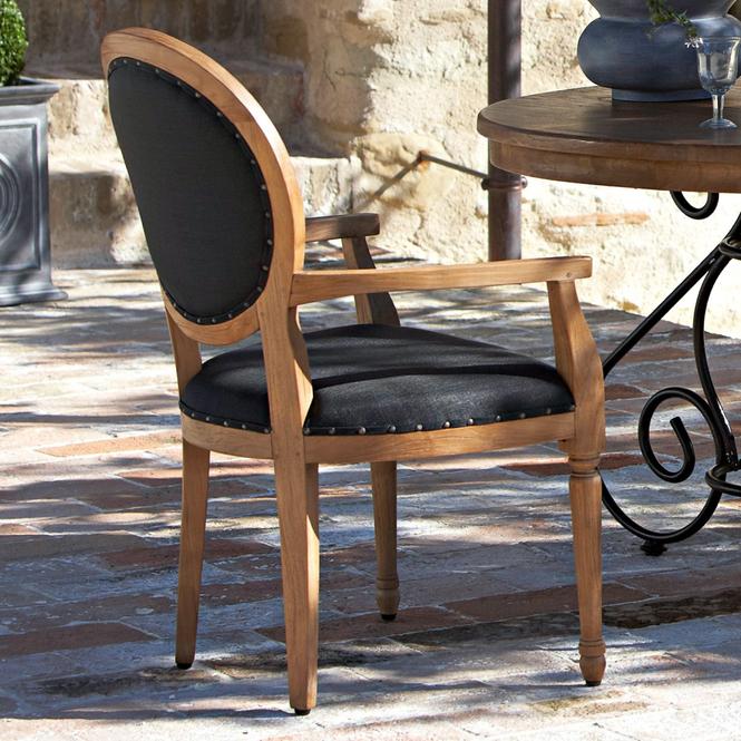 Stuhl mit armlehne fontaine loberon coming home for Stuhl mit armlehne schwarz