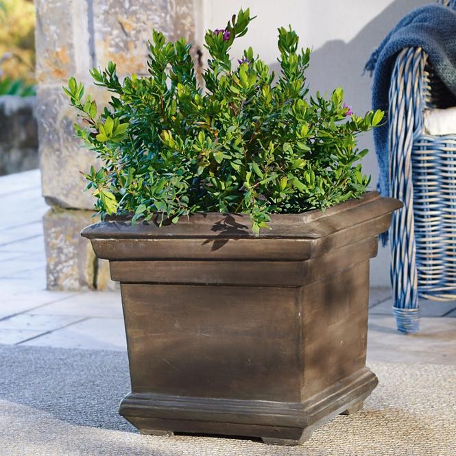 Übertopf Magnum   Garten > Pflanzen > Blumentöpfe   Graubraun   Steingemisch   LOBERON