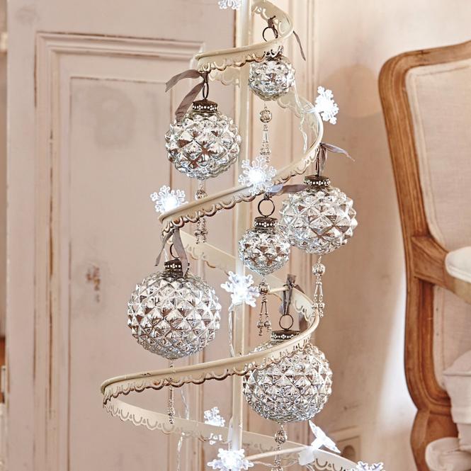 Weihnachten Silber Glas Christbaumschmuck Online Kaufen Mobel