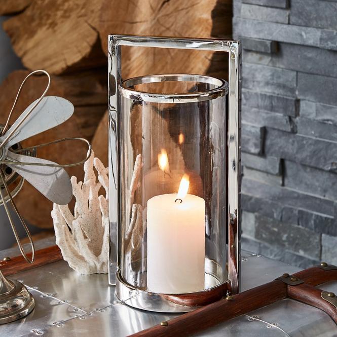 Windlicht Beaufay | Dekoration > Kerzen und Kerzenständer > Windlichter | Klar/silber | Glas -  aluminium -  edelstahl | LOBERON