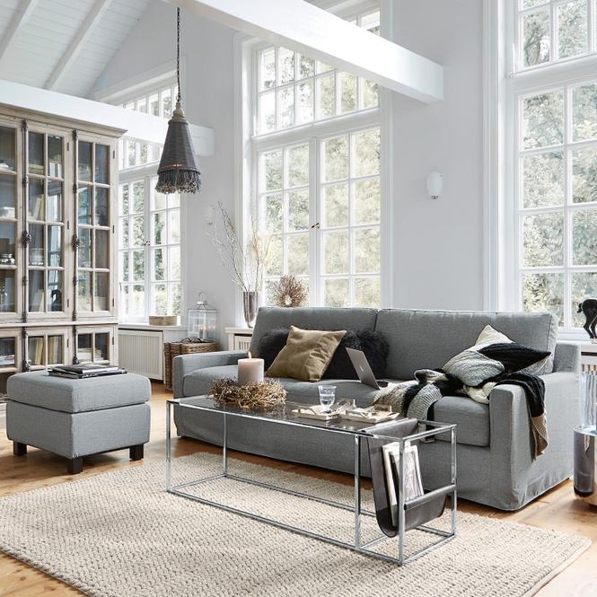 Sofa mit Hocker Burie