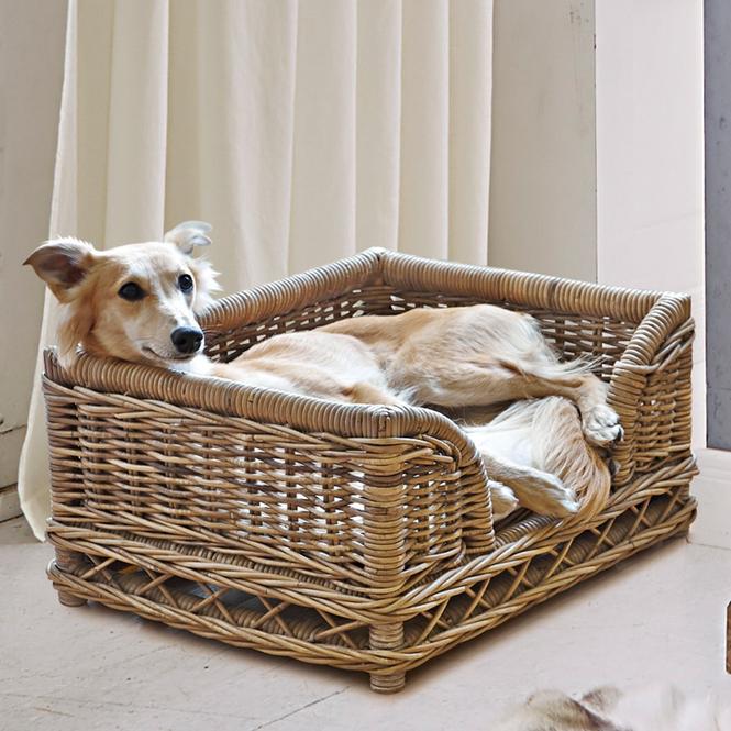 Hundebett Gorron | Garten > Tiermöbel | Antikbraun | Rattan -  kissen: 100% baumwolle | LOBERON