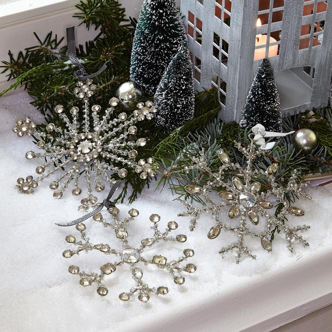 Weihnachten Silber Glassteine Christbaumschmuck Online Kaufen