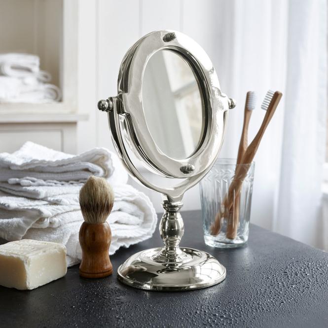 Kosmetikspiegel Madra | Bad > Bad-Accessoires > Kosmetikspiegel | Silber | Aluminium -  spiegelglas | LOBERON