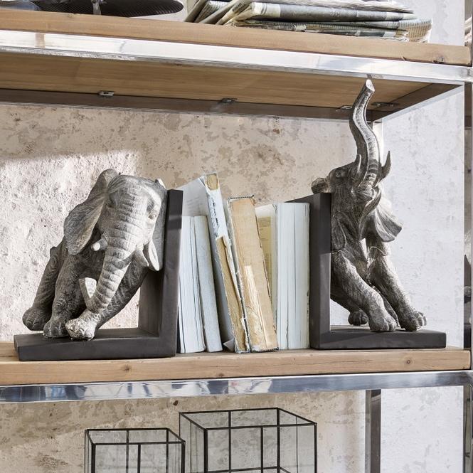 Dekorative Buchstützen mit Elefanten