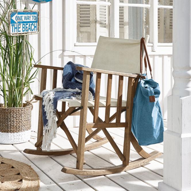 Klappbarer Schaukelstuhl für drinnen und draußen
