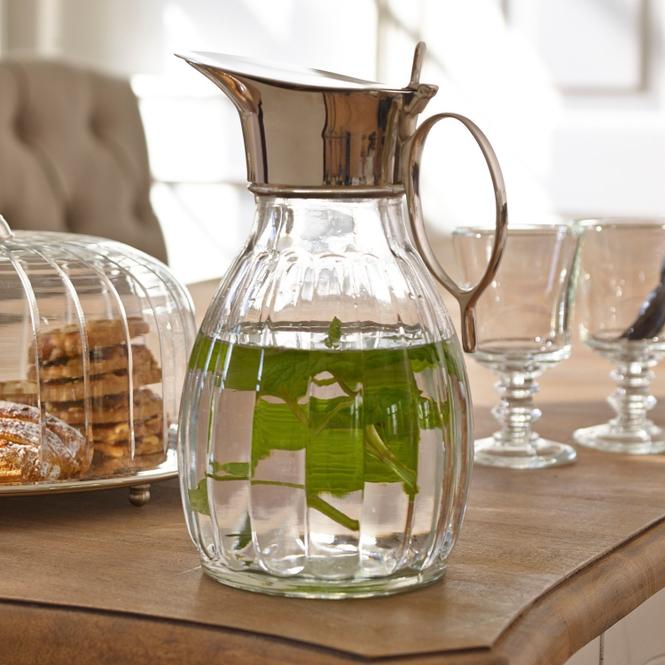 Krug Agudelle   Küche und Esszimmer   Klar/silber   Glas -  griff und ausgießer: messing   LOBERON