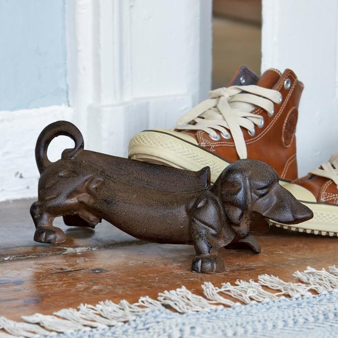 Handgefertigter Schuhabstreifer aus Gusseisen