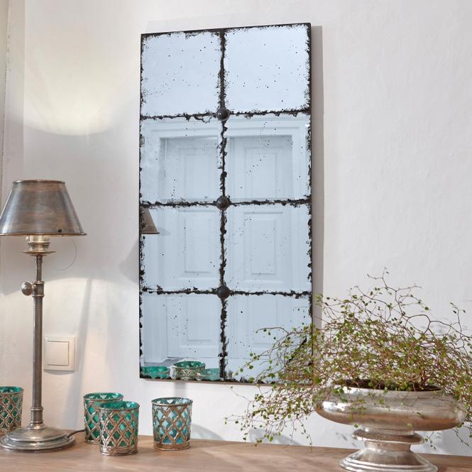 Spiegel Louvenne | Flur & Diele > Spiegel | Antiksilber | Rückwand: kiefernholz -  spiegelglas | LOBERON
