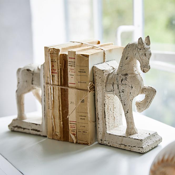 Buchstütze Pferd im Antikstil