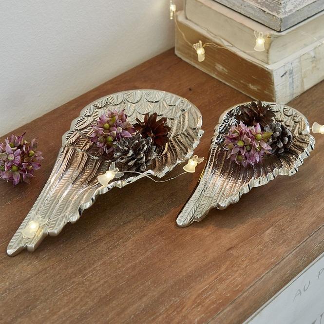 Engelsflügel 2er Set Silver | Dekoration > Figuren und Skulpturen > Engel | Silber | 100% aluminium | LOBERON