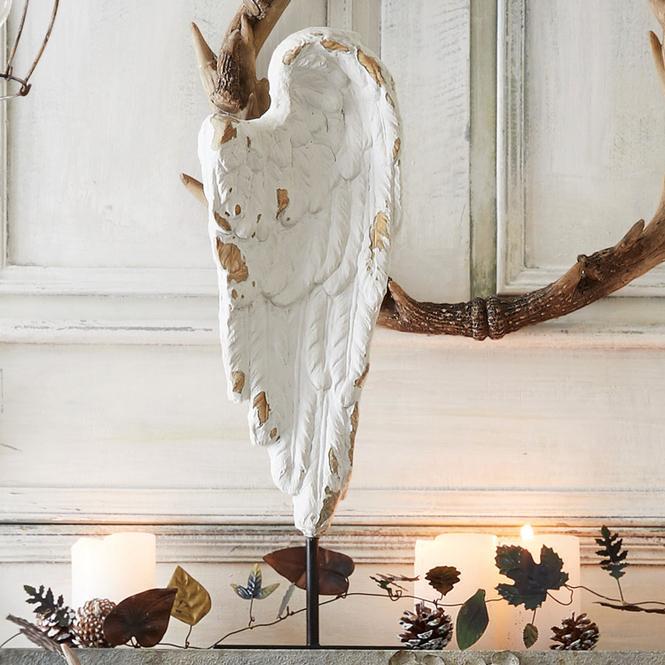 Engelsflügel Angelo | Dekoration > Figuren und Skulpturen > Engel | Weiß | 80% polyresin 20% eisen | LOBERON