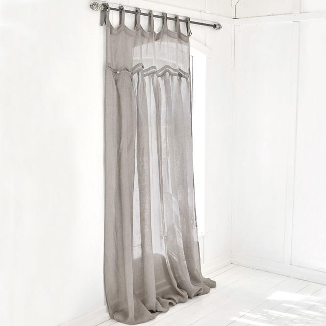grau gardine 100 leinen gardinen online kaufen m bel suchmaschine. Black Bedroom Furniture Sets. Home Design Ideas