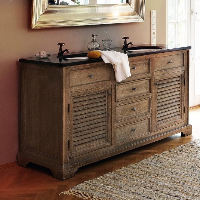 Waschtisch Holz Landhausstil ~   Landhausstil dokumentieren die Lamellentueren und [â