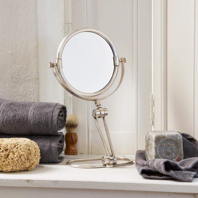 Kosmetikspiegel Belline | Bad > Bad-Accessoires > Kosmetikspiegel | Antiksilber | 75% messing 25% glas | LOBERON