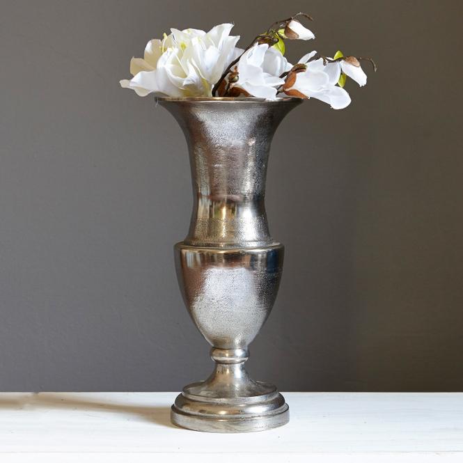 Vase Gilberta | Dekoration > Vasen > Tischvasen | Antiksilber | Aluminiumguss | Accessoires | Vasen & Übertöpfe