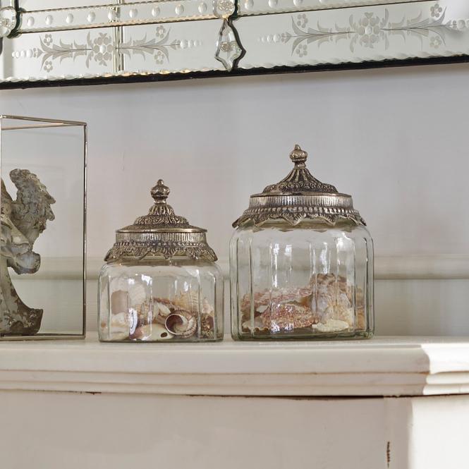 Glasdosen 2er Set Laféline | Küche und Esszimmer > Aufbewahrung > Vorratsdosen | Klar/silber | Glas -  deckel: eisen | Accessoires | Gläser & Schalen