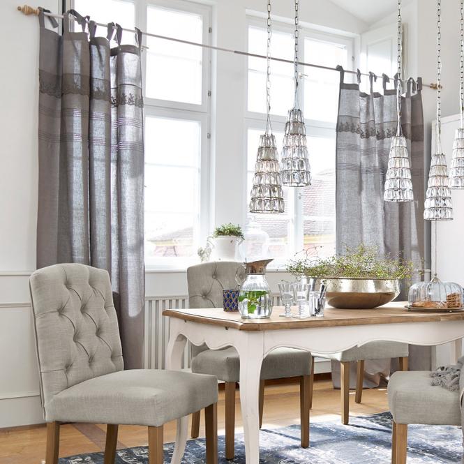 Gardine Luna | Heimtextilien > Gardinen und Vorhänge > Gardinen | Grau | 55% leinen -  45% baumwolle | Accessoires | Textilien | Vorhänge & Gardinen
