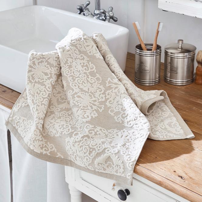 Handtuch Dhalia | Bad > Handtücher > Handtuch-Sets | Beige | 83% baumwolle -  17% leinen | Accessoires | Textilien | Dies & Jenes