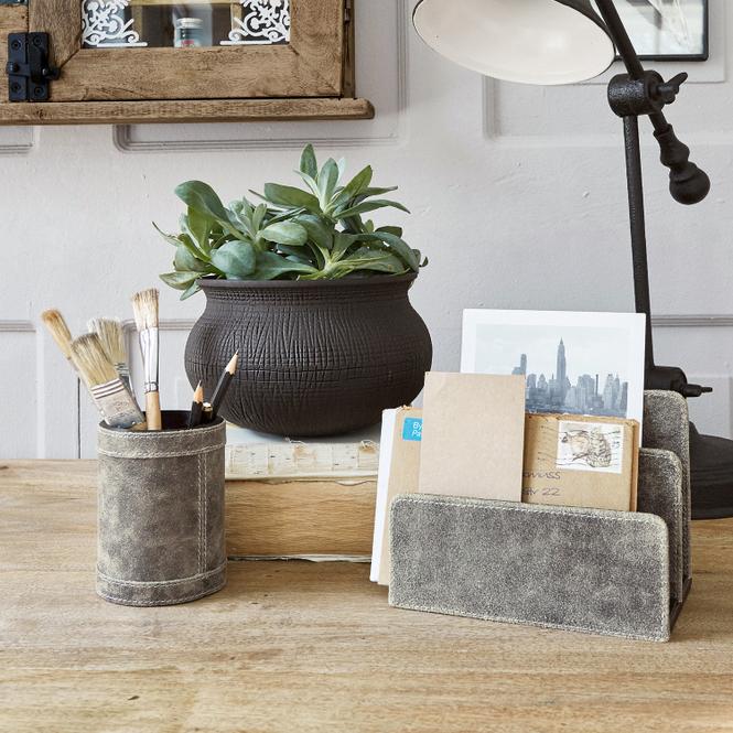 Edles Schreibtischset aus Büffelleder