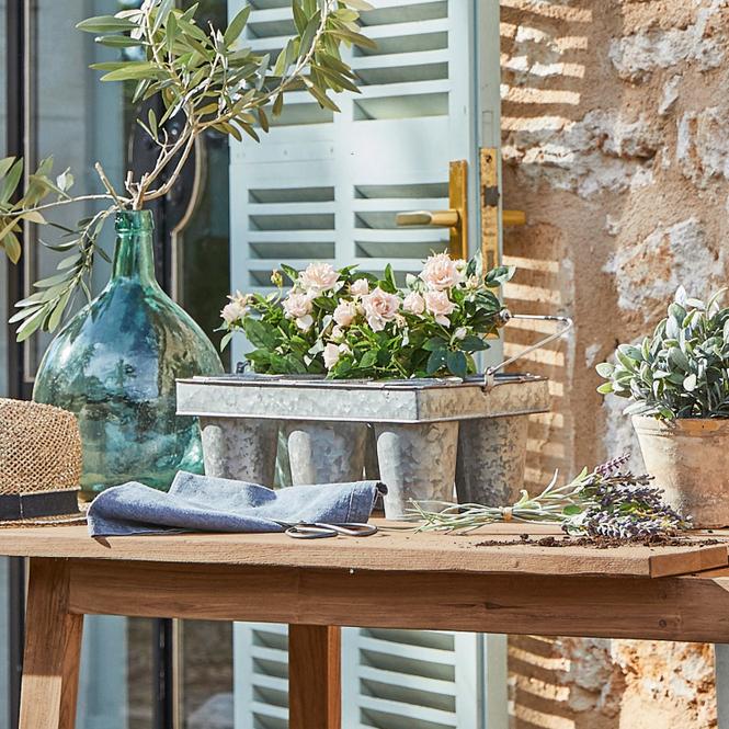 Pflanztopfhalter Casadina   Dekoration > Dekopflanzen > Blumenampeln   Grau   Eisen -  griffe: birkenholz   Accessoires   Vasen & Übertöpfe