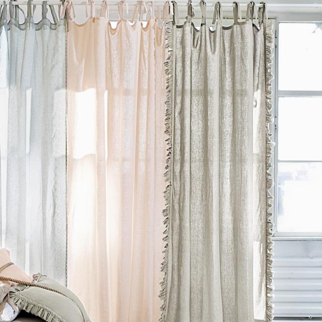 gardine volant loberon coming home. Black Bedroom Furniture Sets. Home Design Ideas