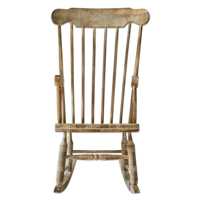 Schaukelstuhl Adaleine | Wohnzimmer > Stüle > Schaukelstühle | Antikbraun | Kiefernholz | Möbel | Stühle