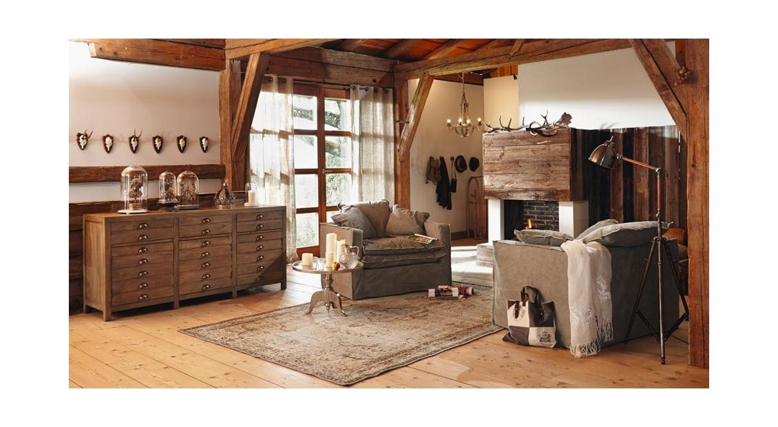 Wohnzimmer Im Stil Eines Berg Chalets