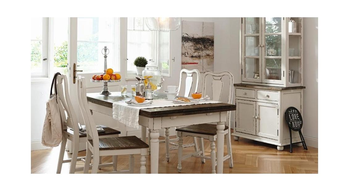 Wohnküche im angesagten Shabby Chic
