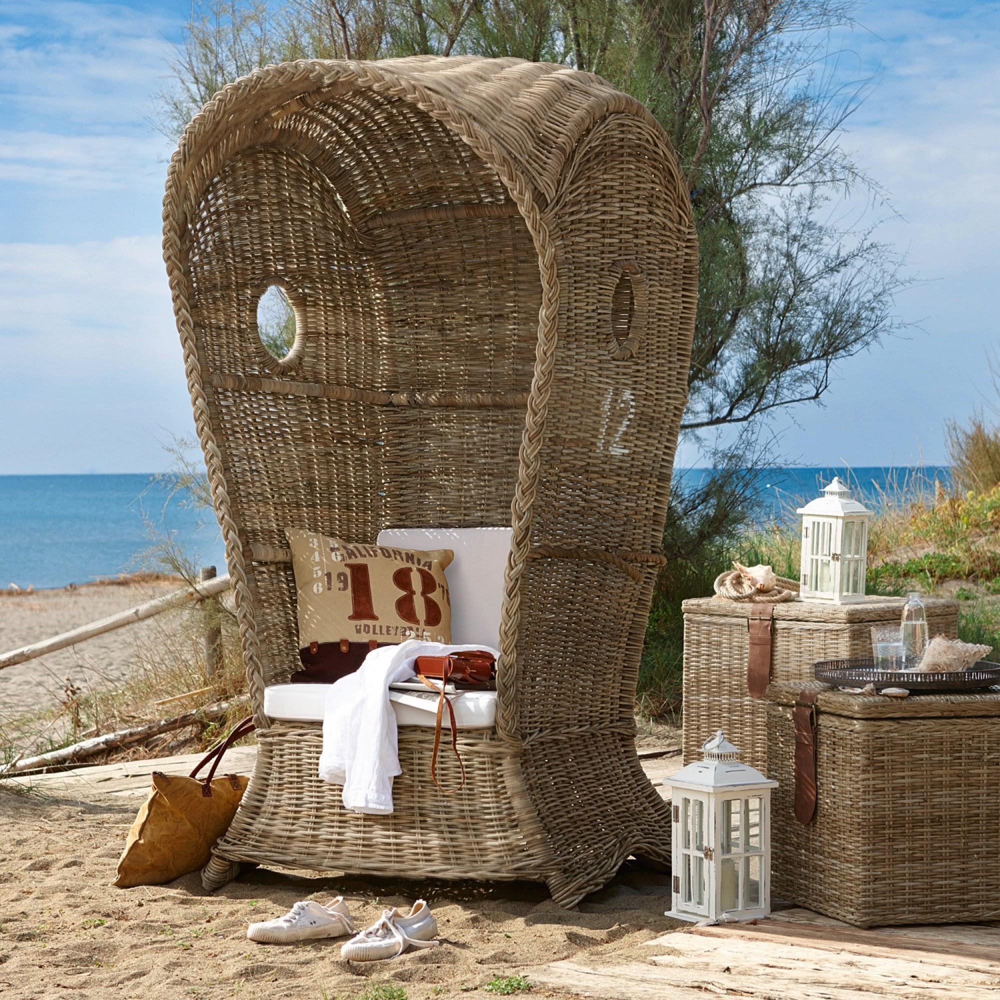 strandkorb cliffwood beach loberon coming home. Black Bedroom Furniture Sets. Home Design Ideas