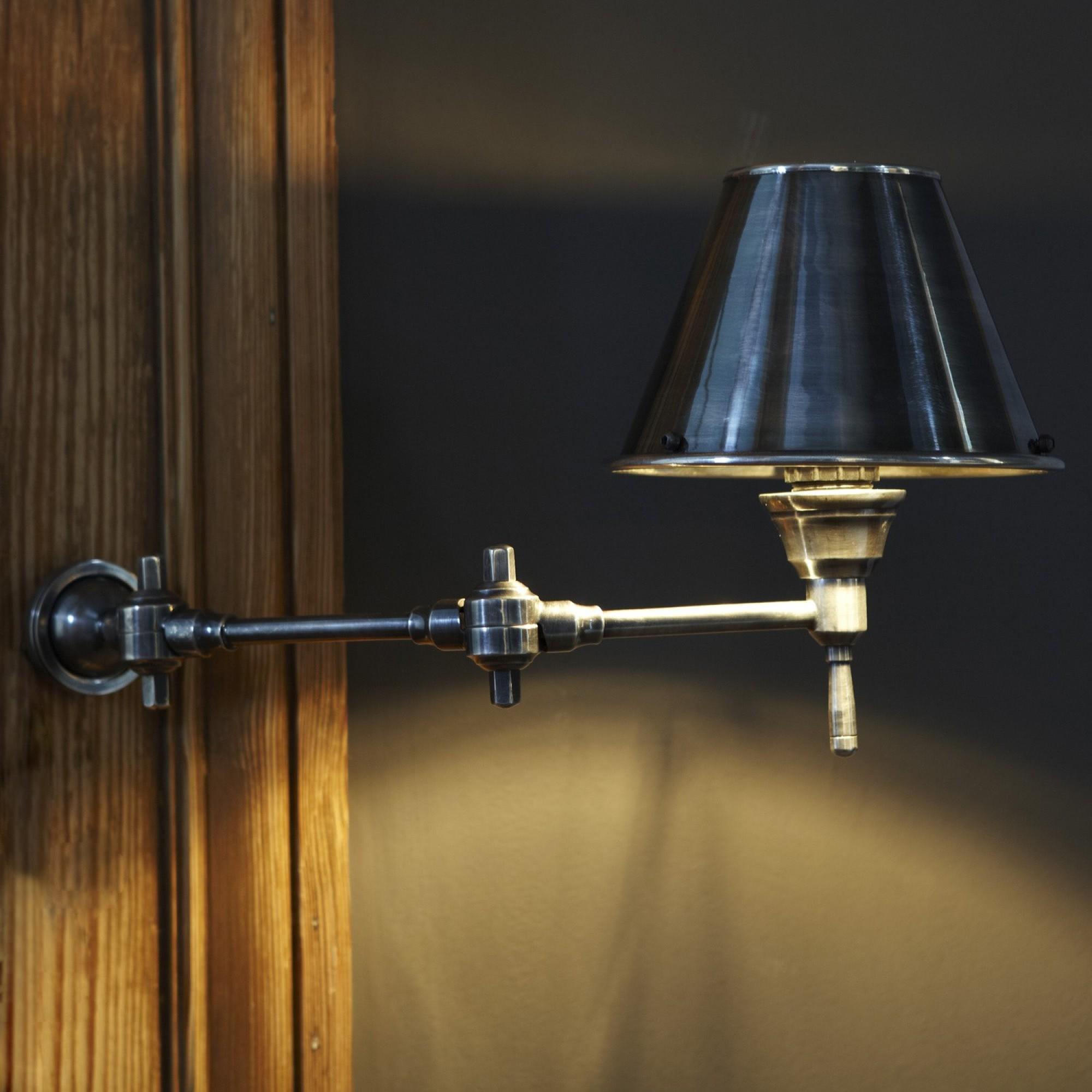 Lampen Online Wandlampe Im Fabrik Design Antik Messing: LOBERON. Coming Home