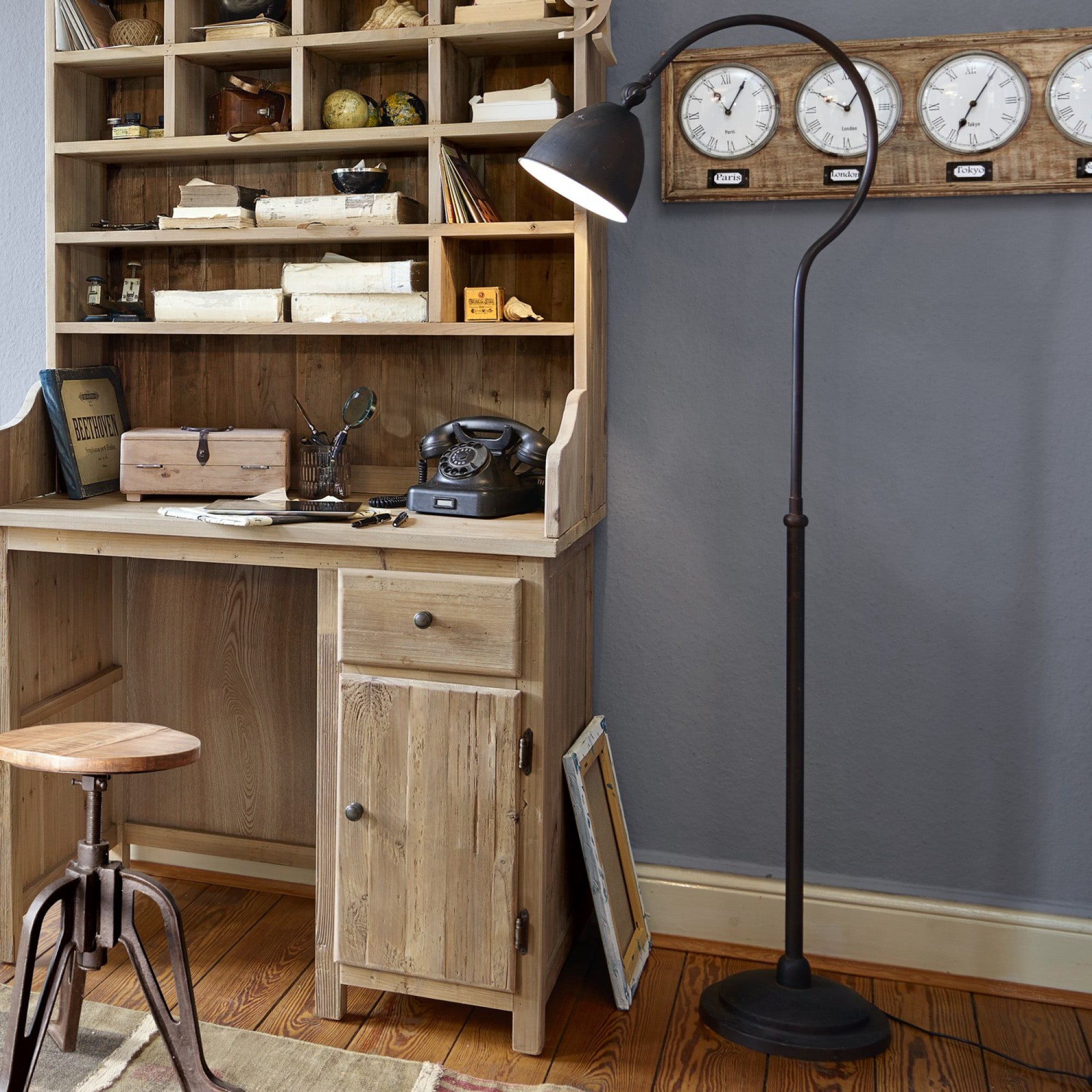 stehlampe tiana loberon coming home. Black Bedroom Furniture Sets. Home Design Ideas