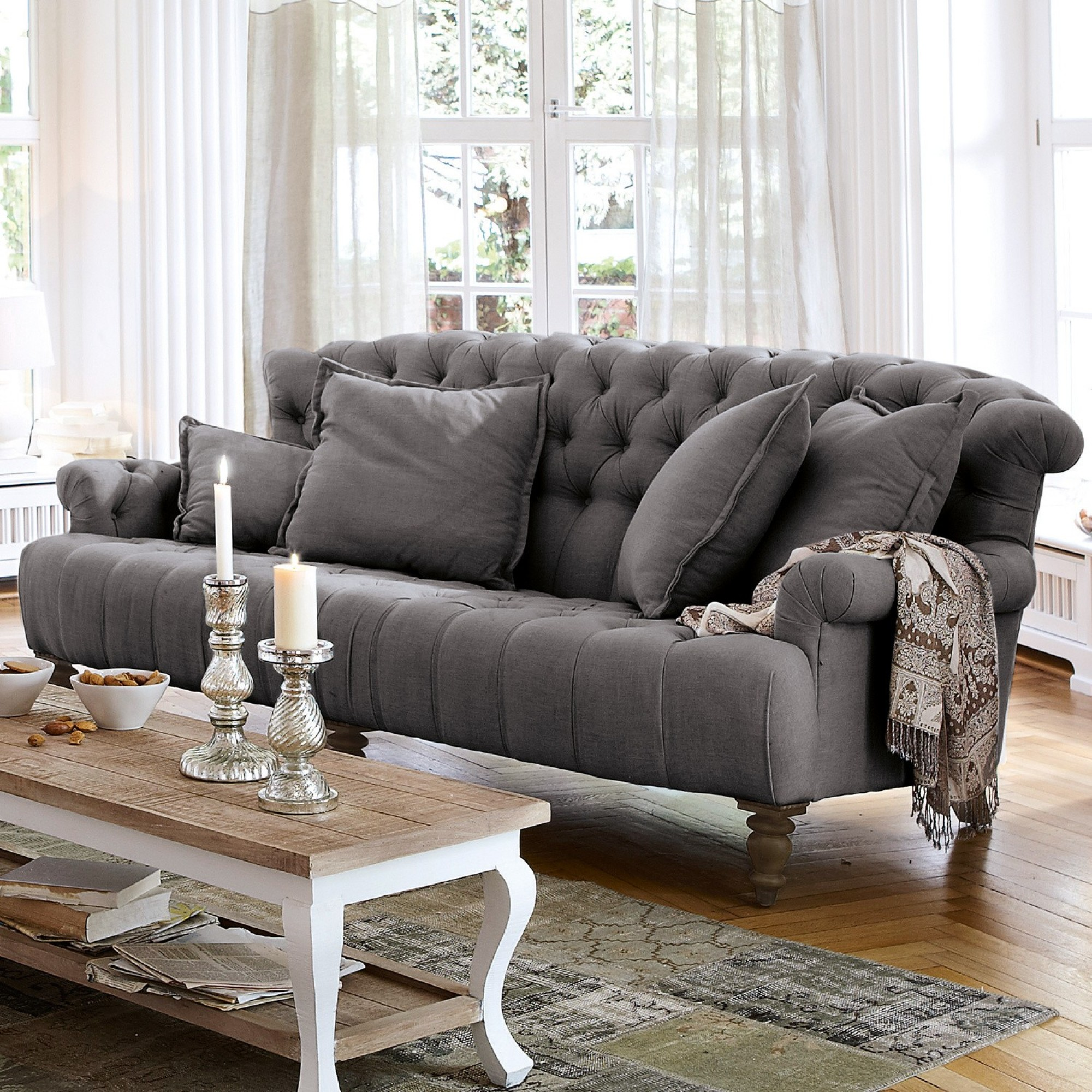 sofa springfield village anthrazit loberon. Black Bedroom Furniture Sets. Home Design Ideas